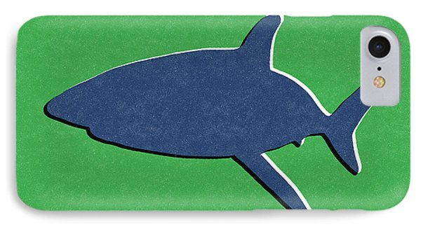 Blue Shark IPhone Case by Linda Woods