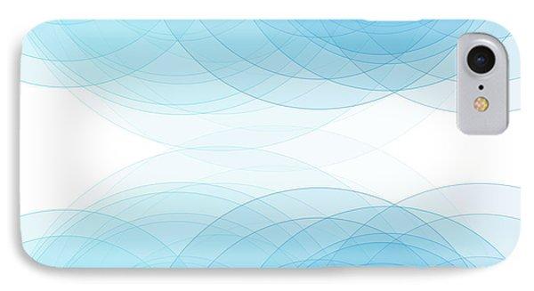 Blue Sky Semi Circle Background Horizontal IPhone Case by Frank Ramspott