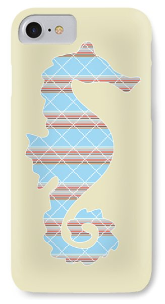 Blue Stripe Pattern Aged IPhone 7 Case by Christina Rollo