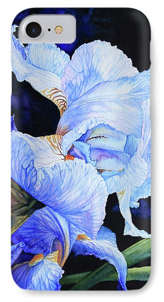 Blue Summer Iris IPhone Case by Hanne Lore Koehler