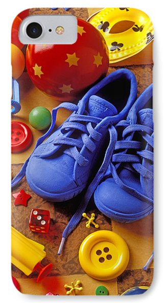 Blue Tennis Shoes Phone Case by Garry Gay