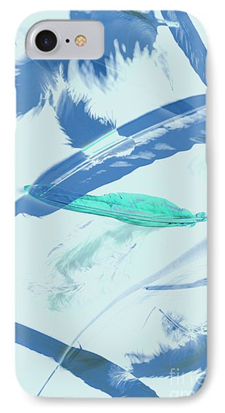 Blue Toned Artistic Feather Abstract IPhone Case by Jorgo Photography - Wall Art Gallery