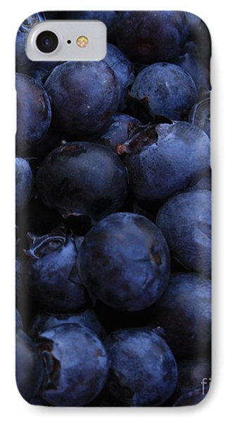 Blueberries Close-up - Vertical IPhone 7 Case by Carol Groenen