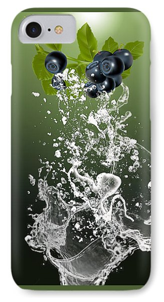 Blueberry Splash IPhone Case by Marvin Blaine