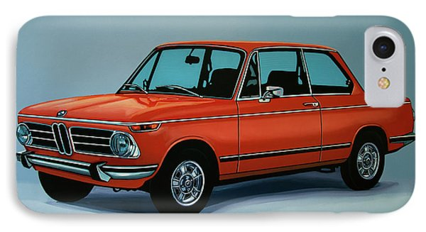 Bmw 2002 1968 Painting IPhone 7 Case by Paul Meijering