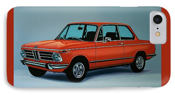 Bmw 2002 1968 Painting IPhone Case by Paul Meijering