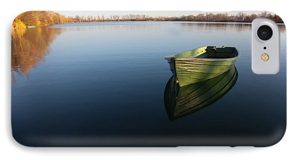 Boat On Lake IPhone Case by Nailia Schwarz