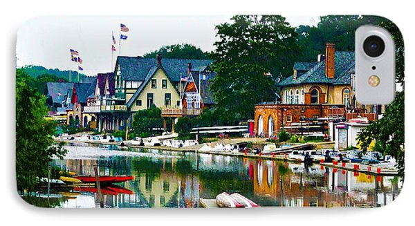 Boathouse Row In Philly IPhone Case by Bill Cannon