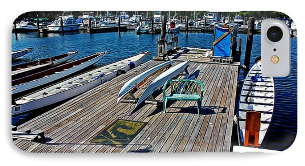 Boats At An Empty Dock 1 IPhone Case by Nishanth Gopinathan