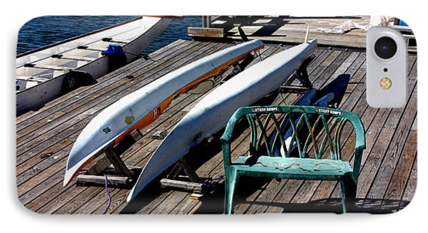 Boats At An Empty Dock 2 IPhone Case by Nishanth Gopinathan