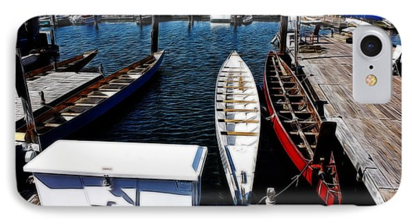 Boats At An Empty Dock 3 IPhone Case by Nishanth Gopinathan