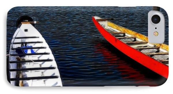 Boats At An Empty Dock 4 IPhone Case by Nishanth Gopinathan