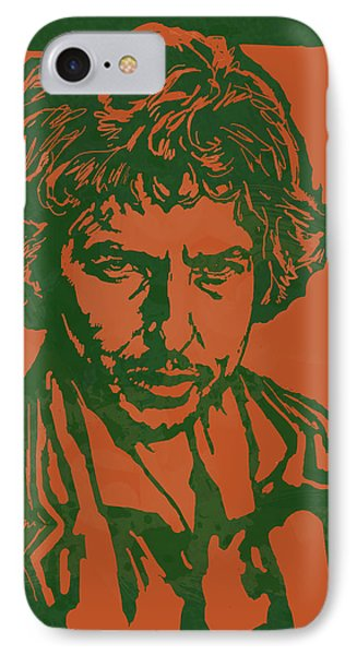 Bob Dylan Pop Stylised Art Sketch Poster IPhone 7 Case by Kim Wang
