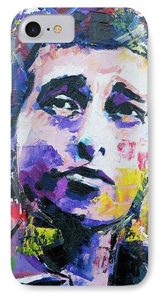 Bob Dylan Portrait IPhone Case by Richard Day