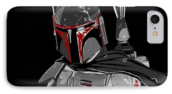 Boba Fett Star Wars Pop Art Phone Case by Paul Dunkel