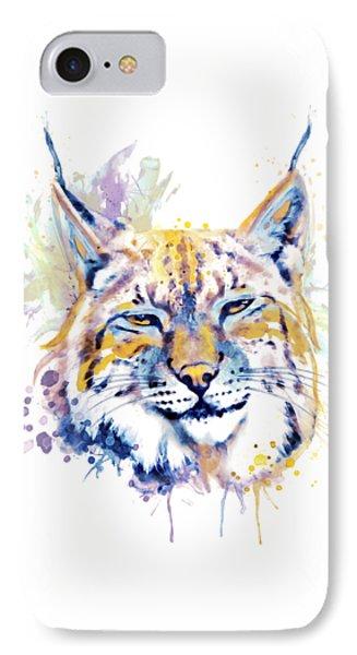 Bobcat Head IPhone Case by Marian Voicu