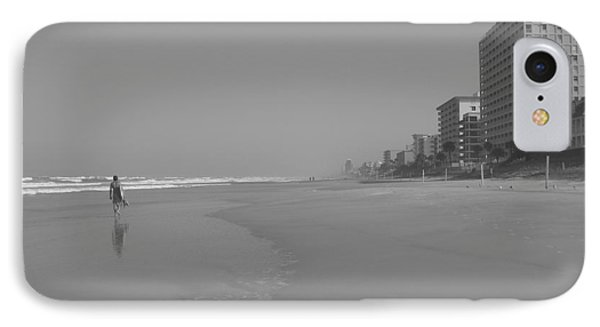 Body Boarding In Black And White Phone Case by Mandy Shupp