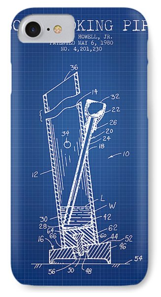 Bong Smoking Pipe Patent1980 - Blueprint IPhone Case by Aged Pixel