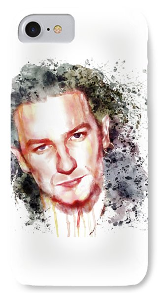 Bono Vox IPhone 7 Case by Marian Voicu