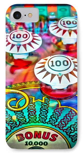 Bonus Points - Pinball IPhone Case by Colleen Kammerer