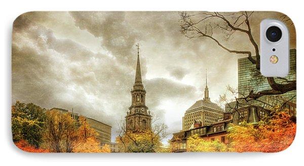 Boston Autumn Splendor IPhone Case by Joann Vitali