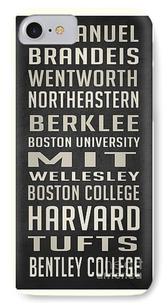 Boston Colleges Poster IPhone Case by Edward Fielding