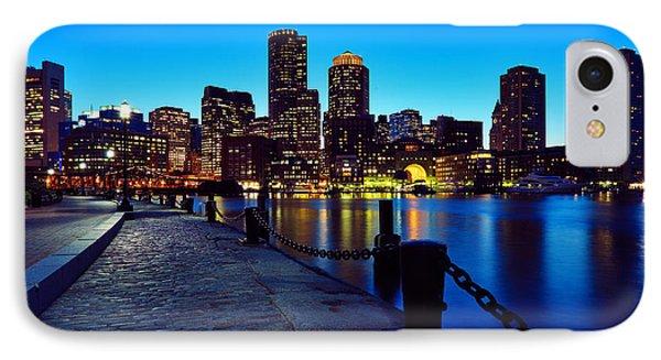 Boston Harbor Walk IPhone Case by Rick Berk