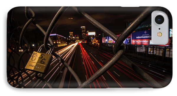 Boston Love Lock Overlooking The Mass Pike Bu Boston Ma IPhone Case by Toby McGuire