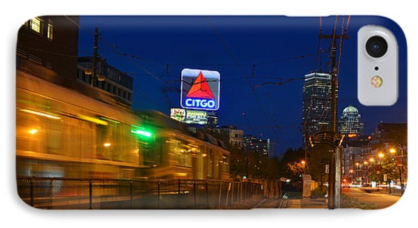 Boston Ma Green Line Train On The Move IPhone Case by Toby McGuire