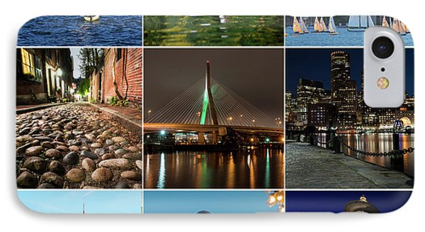 Boston Ma Nine Image Collage 1 IPhone Case by Toby McGuire