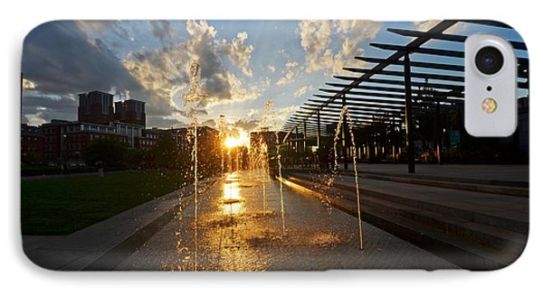 Boston North End Park Fountains Sunset IPhone Case by Toby McGuire