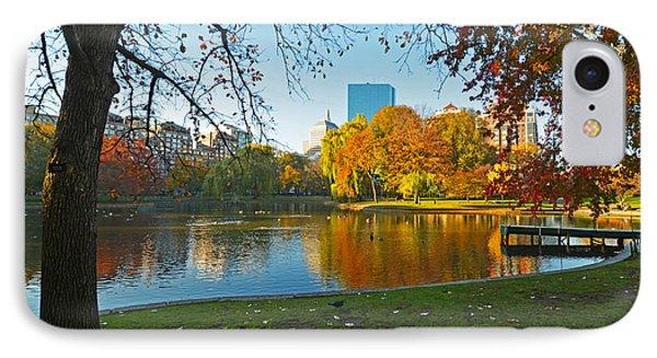 Boston Public Garden Autumn Hancock IPhone Case by Toby McGuire
