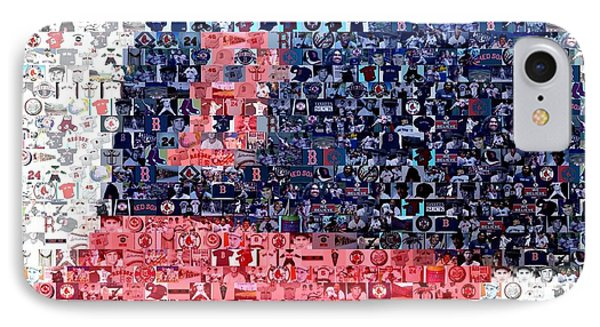 Boston Red Sox Cap Mosaic IPhone Case by Paul Van Scott
