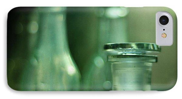 Bottles In The Window Phone Case by Rebecca Sherman