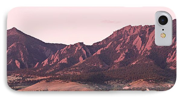 Boulder Colorado Flatirons 1st Light Panorama IPhone 7 Case by James BO  Insogna