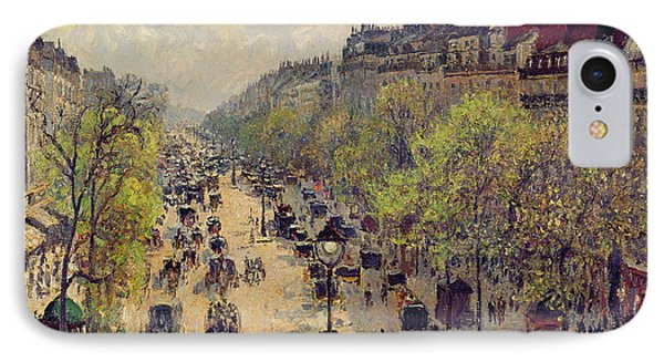 Boulevard Montmartre IPhone Case by Camille Pissarro