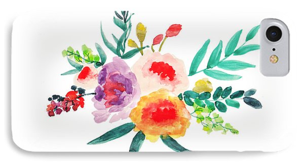 Bouquet Chic IPhone 7 Case by Rasirote Buakeeree