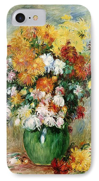 Bouquet Of Chrysanthemums IPhone Case by Pierre Auguste Renoir