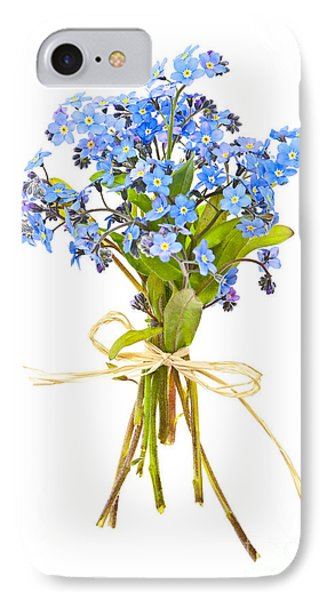 Bouquet Of Forget-me-nots IPhone Case by Elena Elisseeva