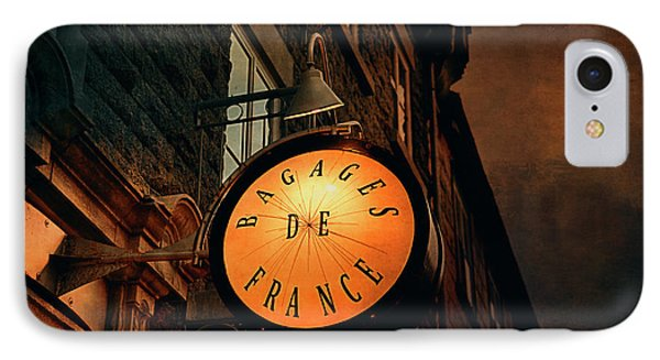 Boutique Sign - Quebec City IPhone Case by Maria Angelica Maira
