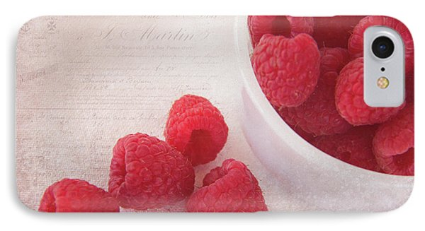 Bowl Of Red Raspberries IPhone Case by Cindi Ressler