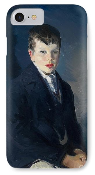 Boy In A Blue Coat IPhone Case by Celestial Images