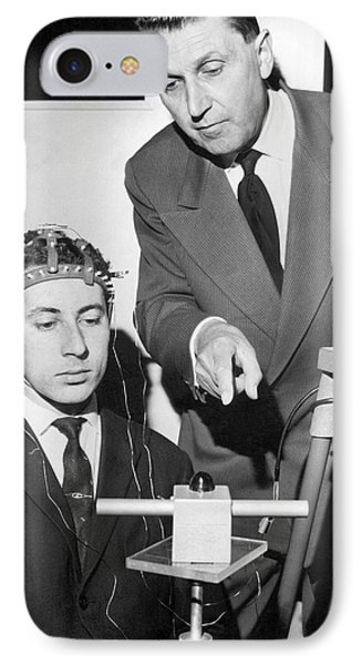 Brain Waves Illuminate Bulb IPhone Case by Underwood Archives