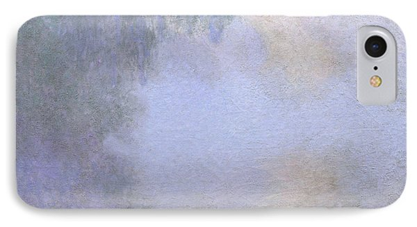 Branch Of The Seine Near Giverny  Mist IPhone Case by Claude Monet