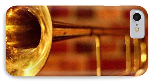Brass Trombone IPhone Case by David  Hubbs