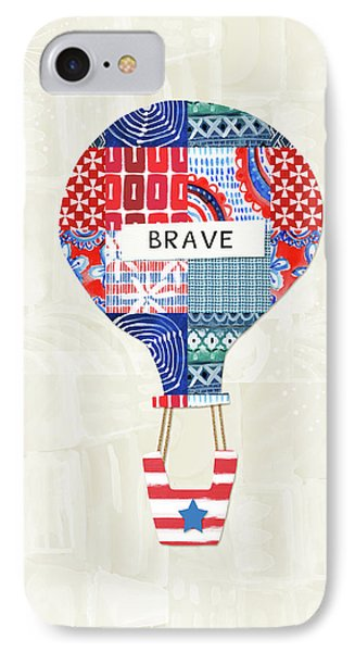 Brave Balloon- Art By Linda Woods IPhone Case by Linda Woods