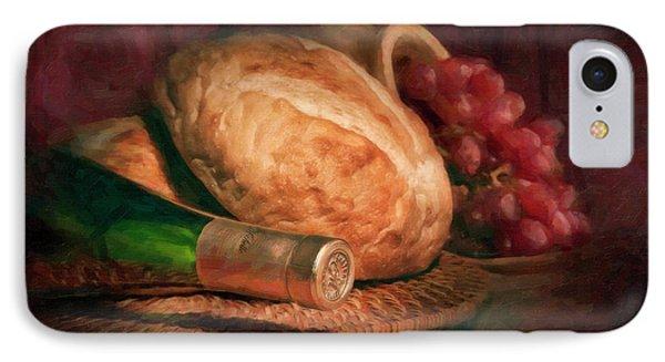 Bread And Wine IPhone 7 Case by Tom Mc Nemar