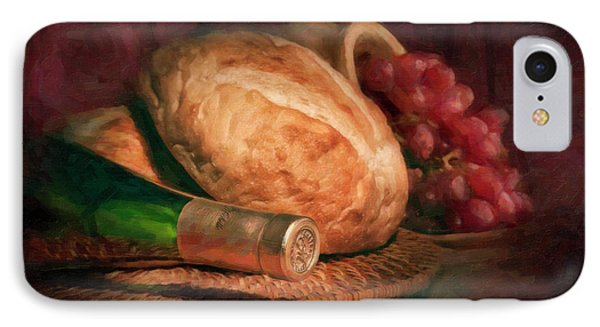 Bread And Wine IPhone Case by Tom Mc Nemar