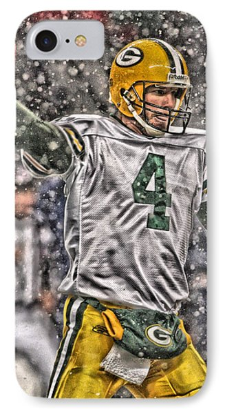 Brett Favre Green Bay Packers 2 IPhone Case by Joe Hamilton