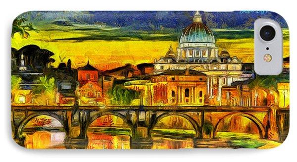 Bridge Of Angels Evening - Da IPhone Case by Leonardo Digenio